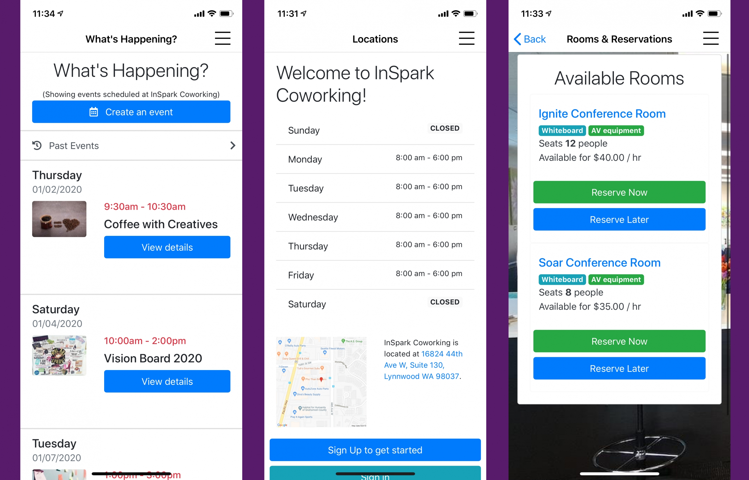 Introducing the InSpark Coworking App!